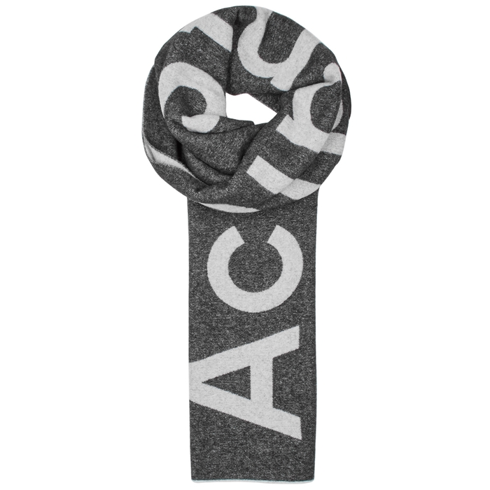 Acne Studios Toronto Logo-intarsia Wool Blend Scarf