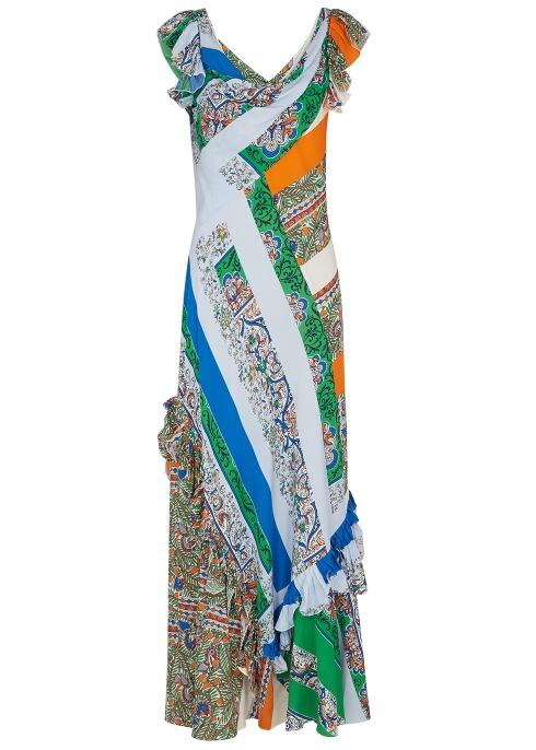 04b74f9b7f7 Tory Burch Patchwork-print maxi dress - Harvey Nichols