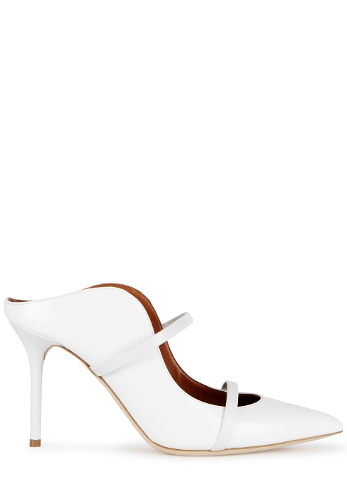 1fafa27fbdef Malone Souliers Maureen 85 white leather mules - Harvey Nichols