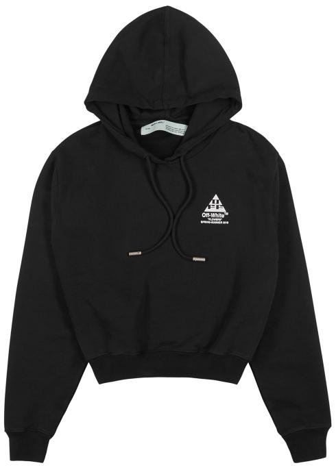 ff0193eb95b3 Off-White Logo-print hooded cotton sweatshirt - Harvey Nichols