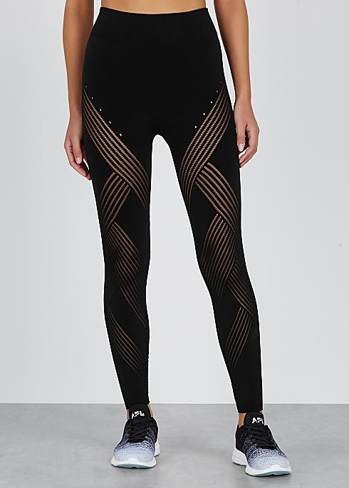 d56f62914b5869 adidas Training Black warp-knit leggings - Harvey Nichols