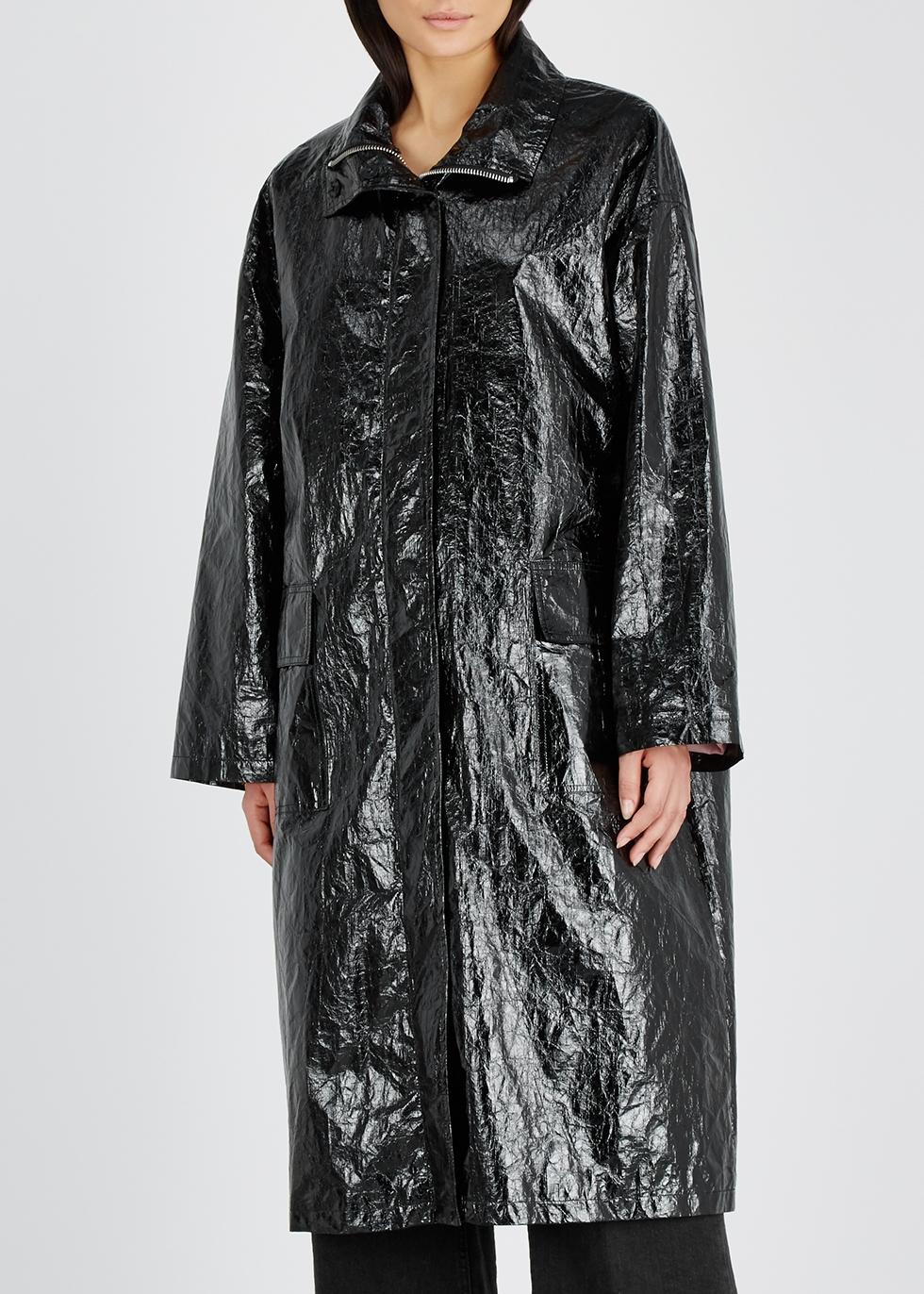 Maia black patent coat - Stand