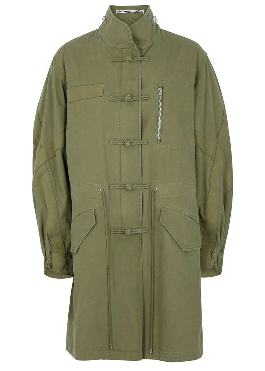 c3f750bceadd Washed Workwear army green cotton jacket ...