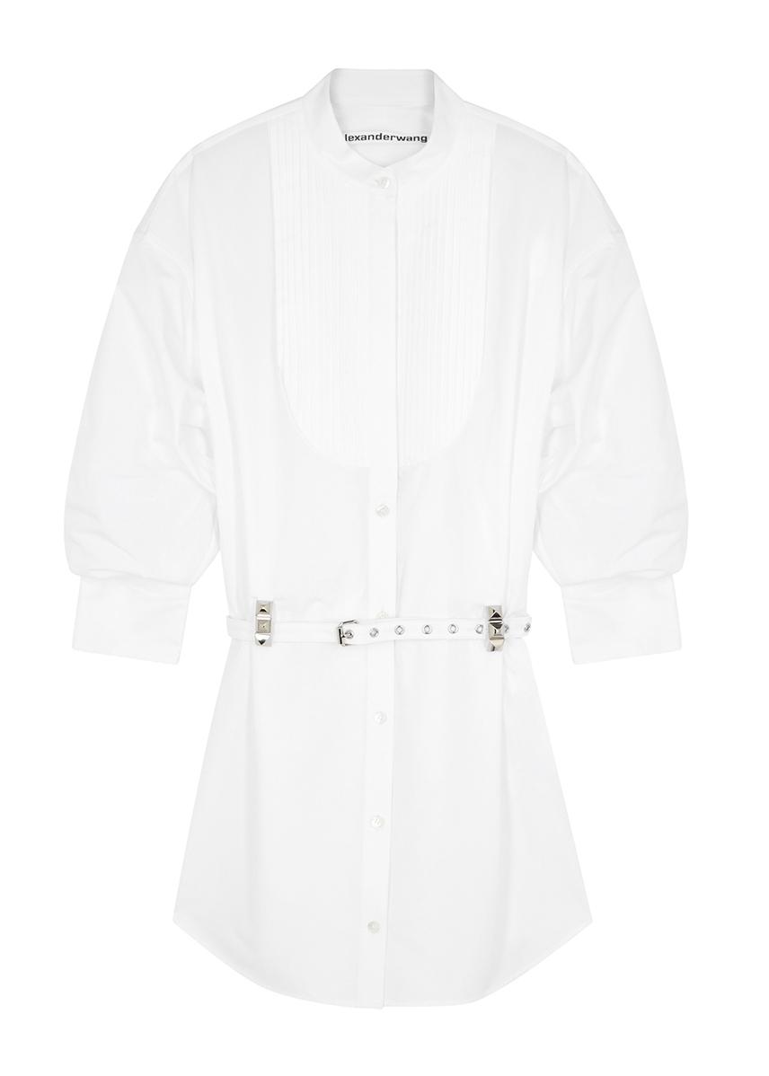 2e9cc299d04 White cotton mini shirt dress White cotton mini shirt dress. Alexander Wang