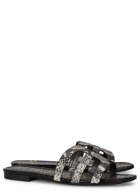 903f1c624 Sam Edelman Bay python-effect leather sliders - Harvey Nichols