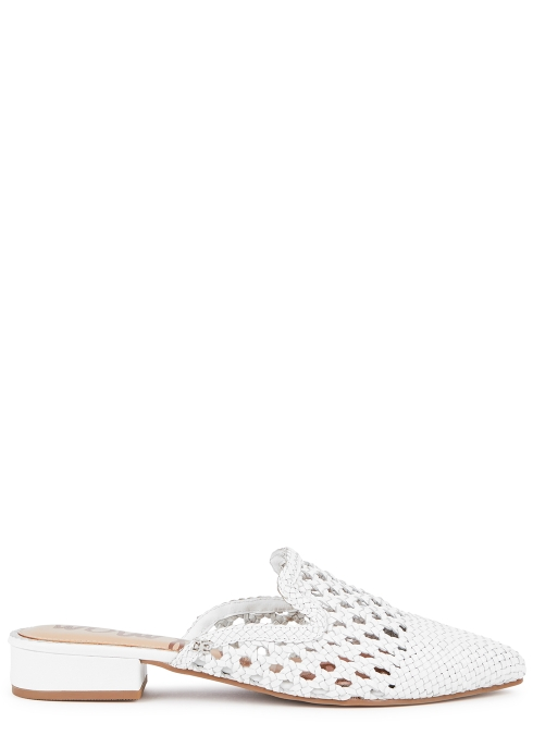 1f13d2732 Sam Edelman Clara 25 white woven leather mules - Harvey Nichols