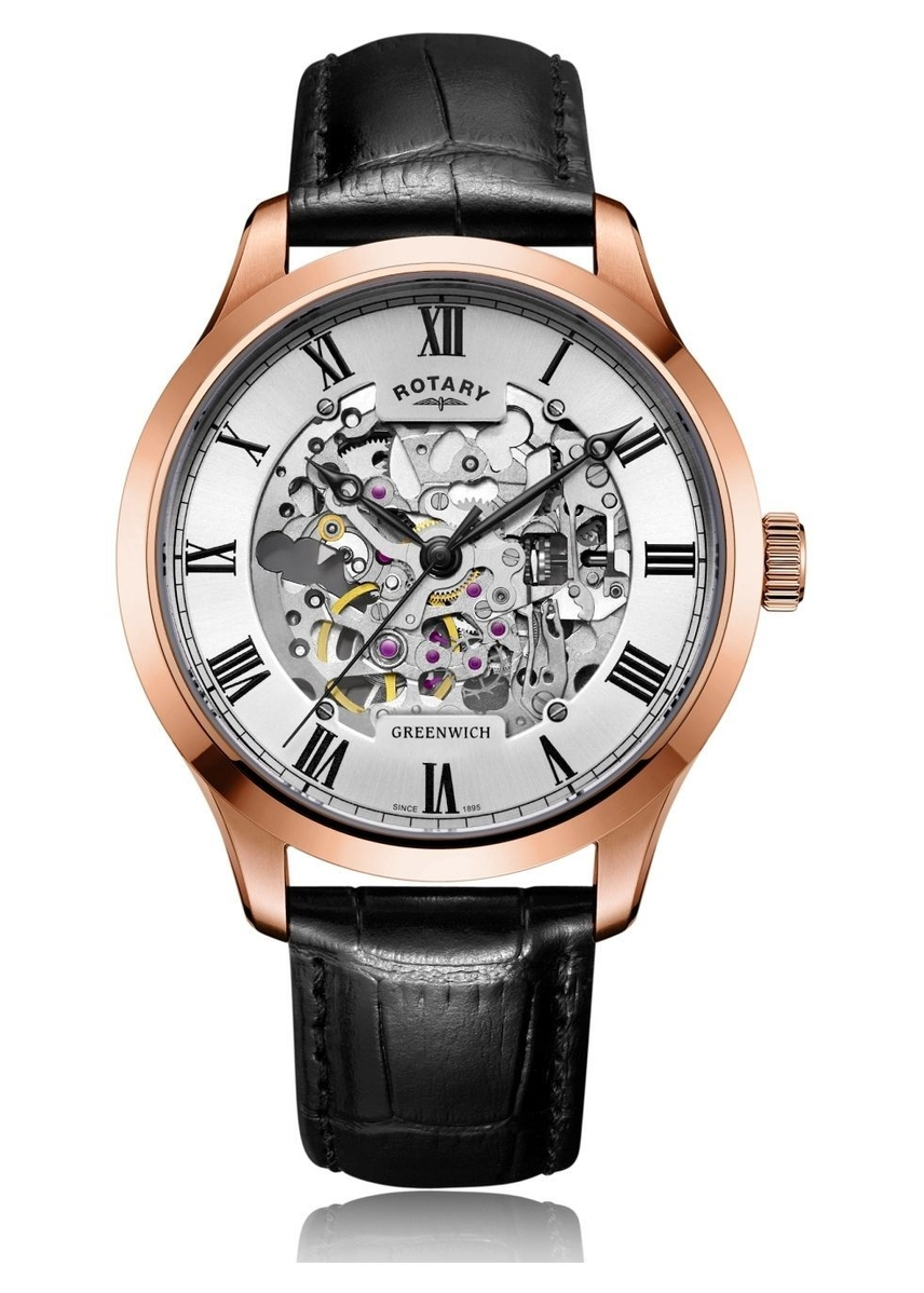 97f6c600fd78 Mens Rose Gold Plated Skeleton Watch Mens Rose Gold Plated Skeleton Watch.  Online Only. Rotary Watches