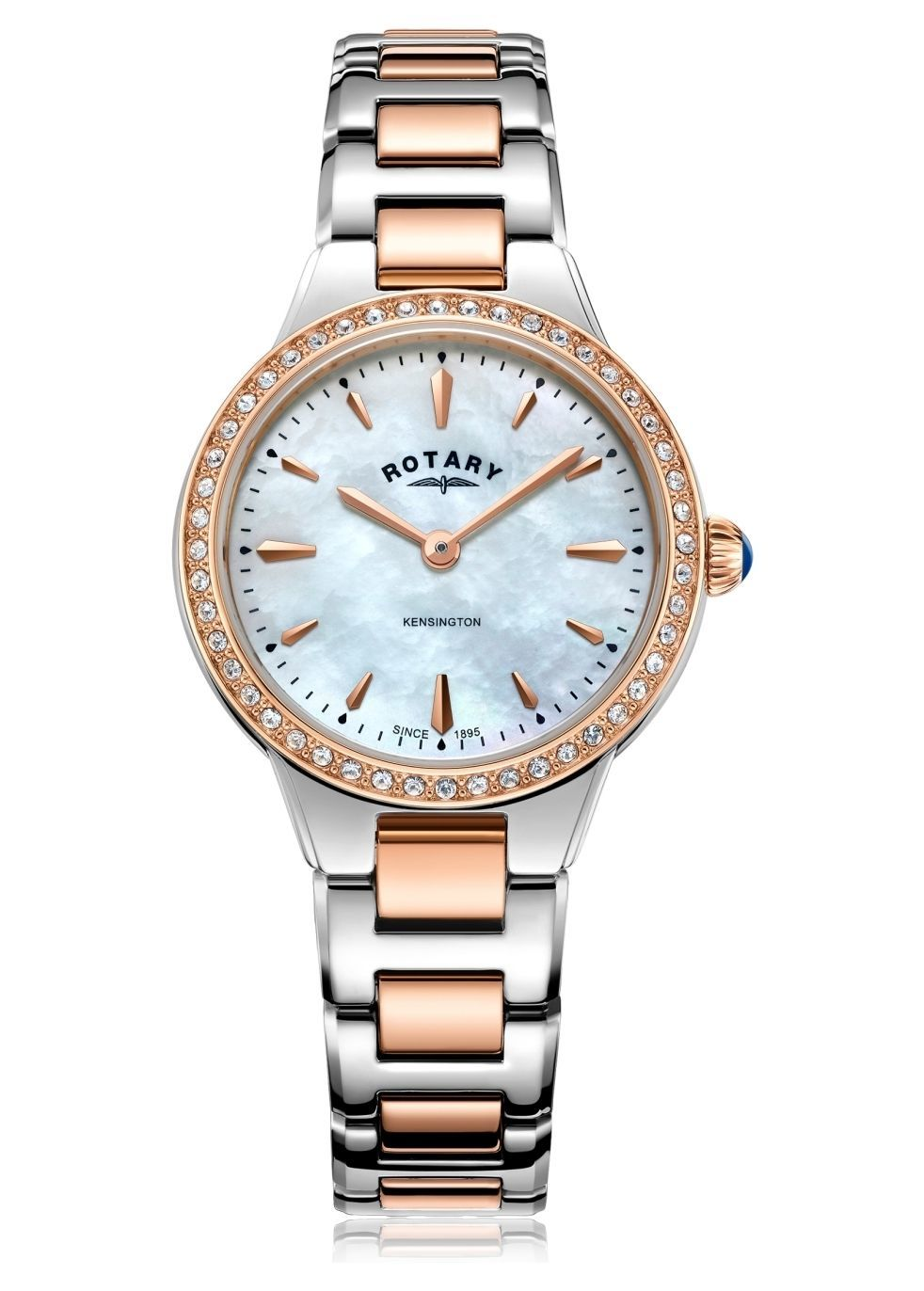 Two tone rose gold kensington ladies quartz - Rotary Watches