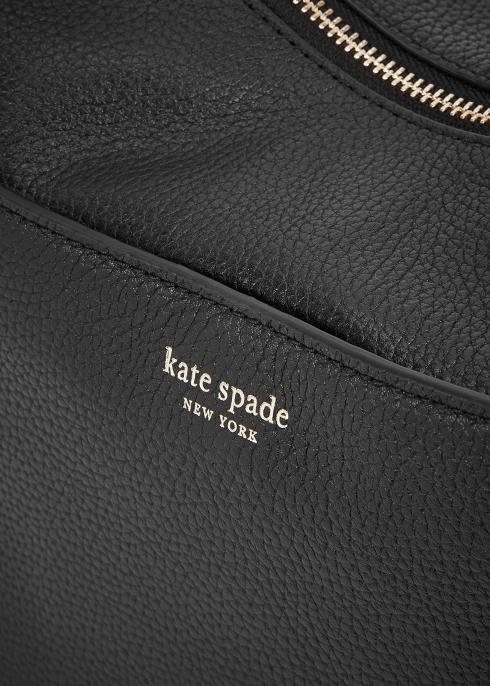 6a98ed01e996 Kate Spade New York Polly medium black leather shoulder bag - Harvey ...
