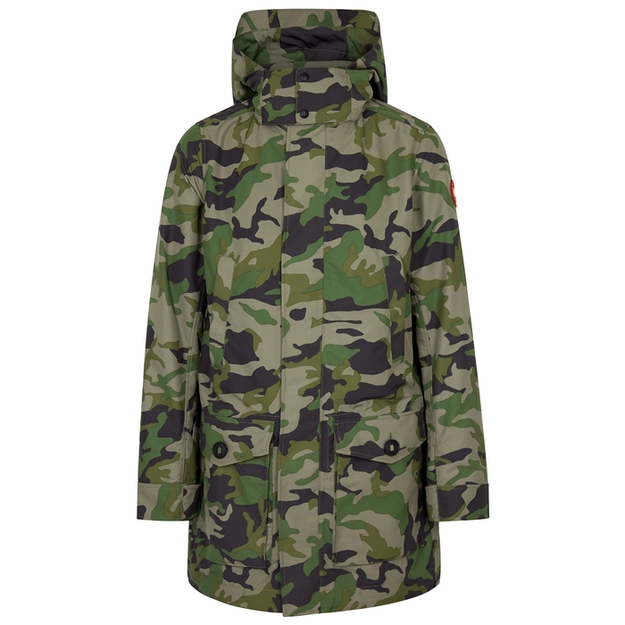 Canada Goose Crew Camouflage Shell Coat In Green  d90dbec0e2