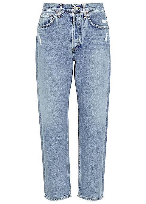 80103b21170 AGOLDE Parker distressed straight-leg jeans - Harvey Nichols