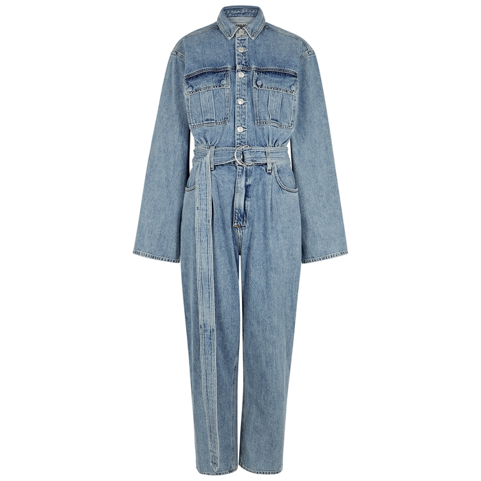 Agolde Suits TATUM BELTED DENIM JUMPSUIT