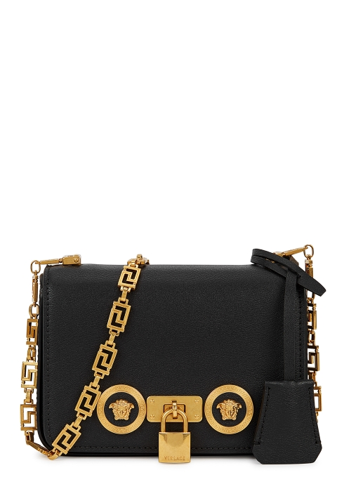 c55a524dfa86 Versace Tribute black leather cross-body bag - Harvey Nichols