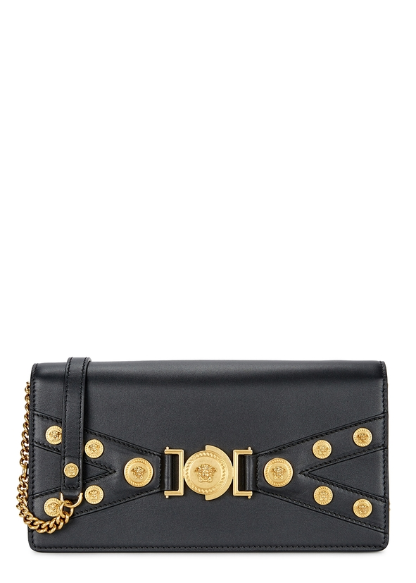 aaf144883d7d Tribute black leather cross-body bag ...