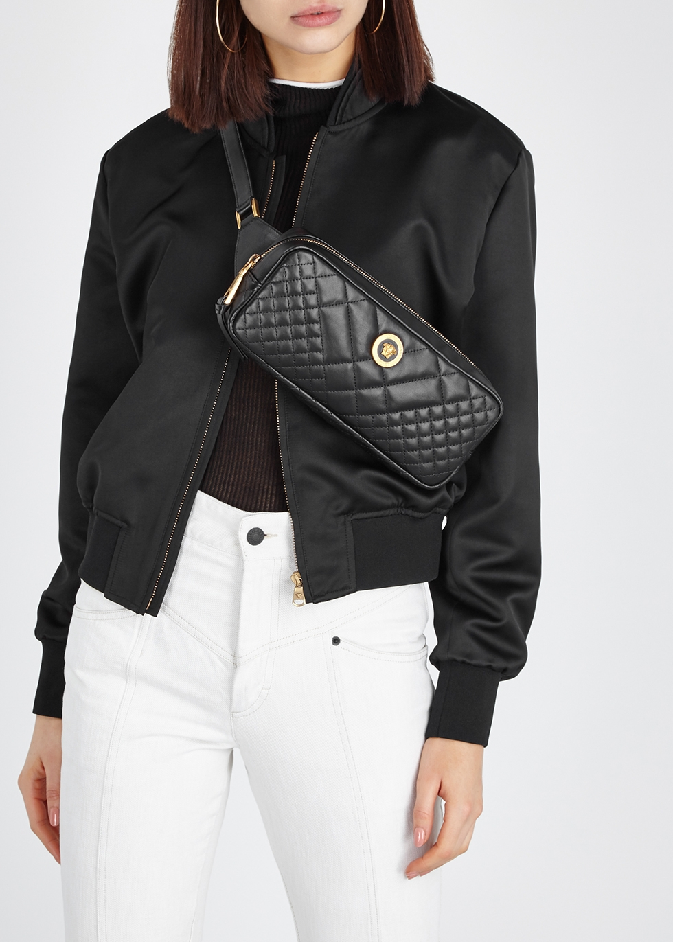 Tribute quilted leather belt bag - Versace