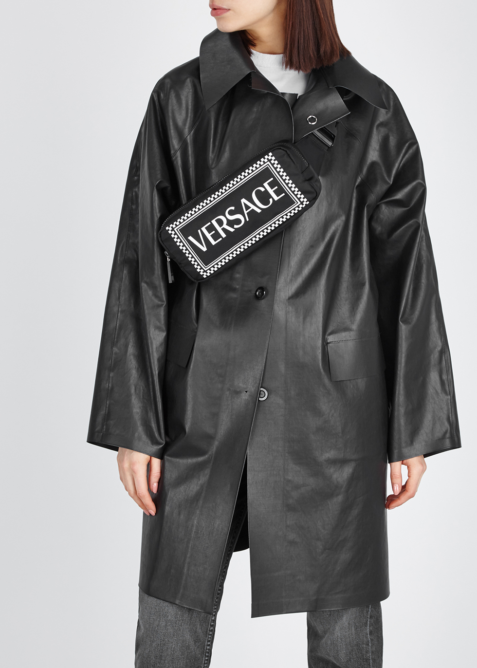 Tribute logo-print belt bag - Versace