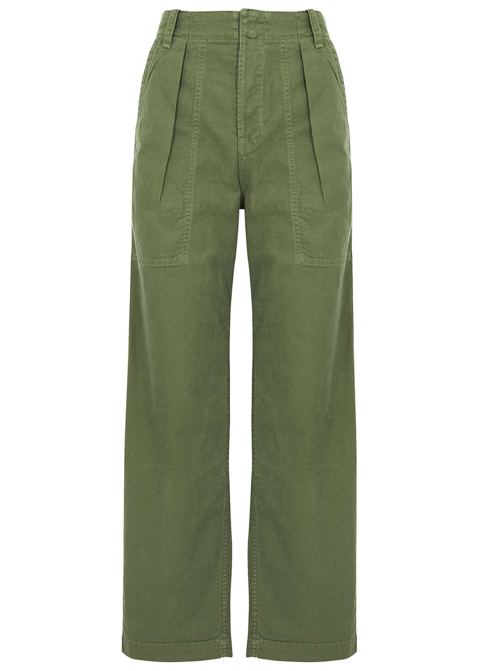 Cassidy army green twill trousers - Citizens of Humanity