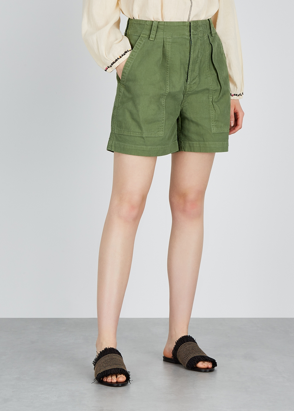Cassidy army green twill shorts - Citizens of Humanity