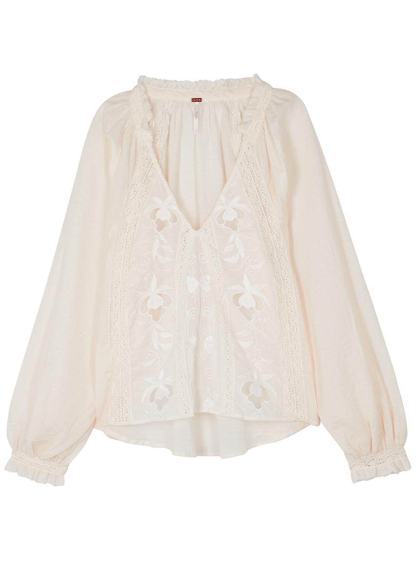 6c801fcde0562 Sivan ivory embroidered blouse ...