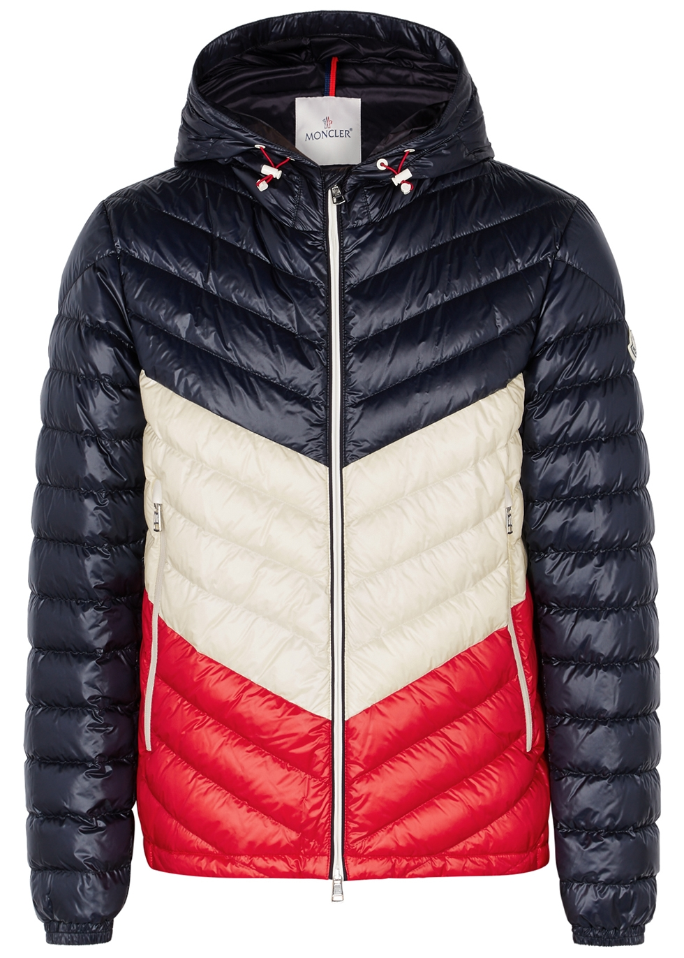 moncler palliser colour blocked shell jacket harvey nichols rh harveynichols com