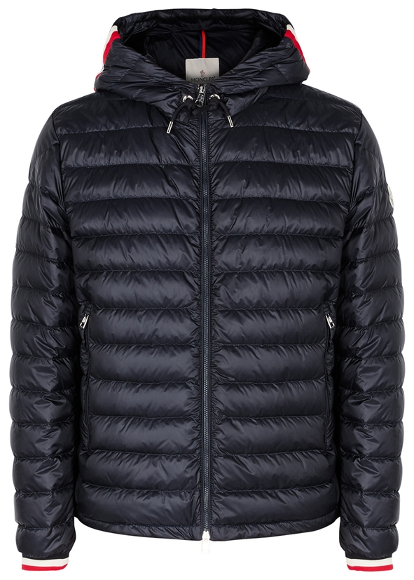Giroux navy quilted shell jacket ... 016d6ce81
