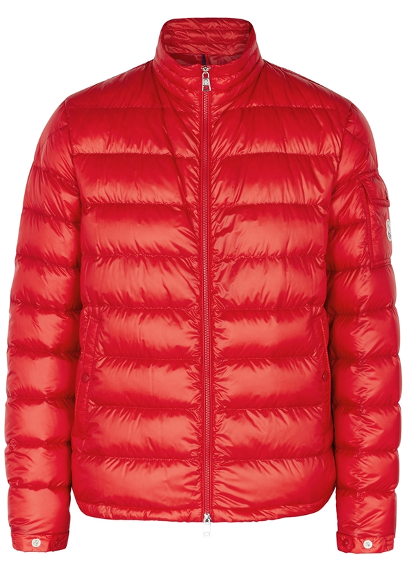 Lambot red quilted shell jacket ... 03130039b65