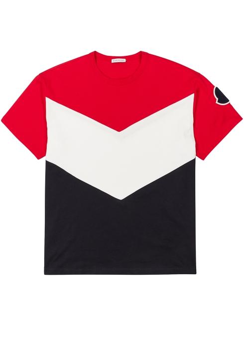 9dae49b1b Moncler Colour-blocked cotton T-shirt - Harvey Nichols