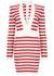 Striped stretch-jersey mini dress - Balmain