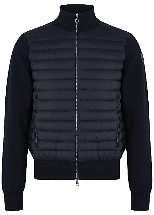 60132ad56 Moncler Navy stretch-jersey jacket - Harvey Nichols