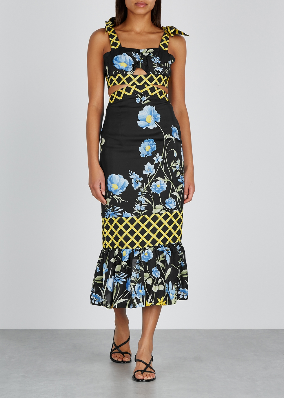 Flower Girl matte satin midi dress - alice McCALL