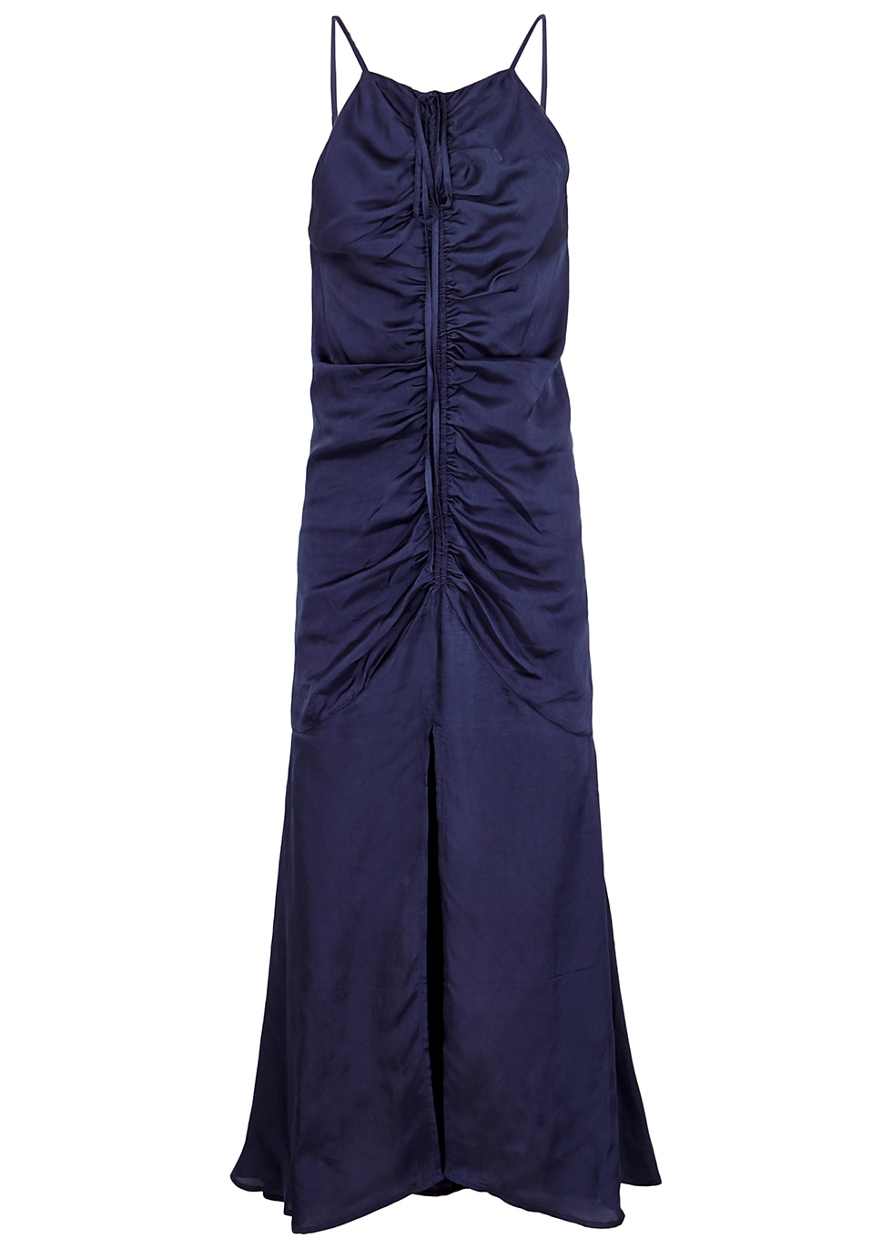 Blue Moon ruched satin midi dress - alice McCALL