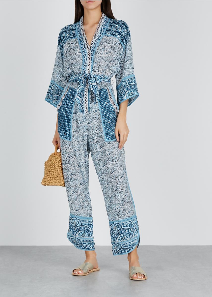 163f150cb7 Bella blue paisley-print jumpsuit Bella blue paisley-print jumpsuit