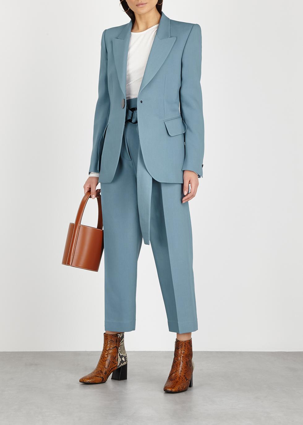 Jovan blue wool-blend blazer - Petar Petrov