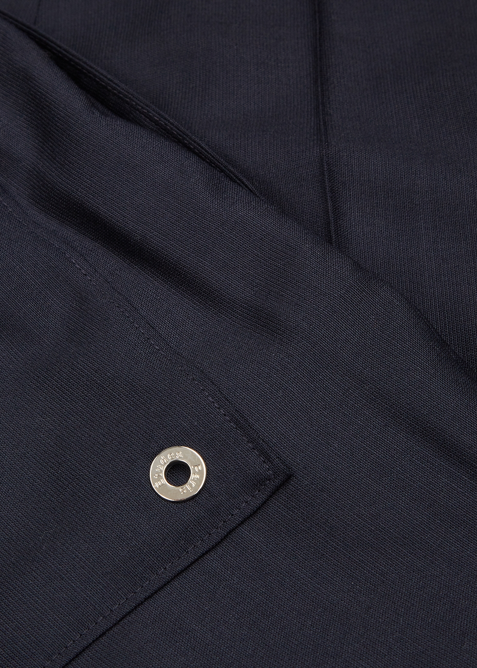 Navy tapered wool trousers - Études