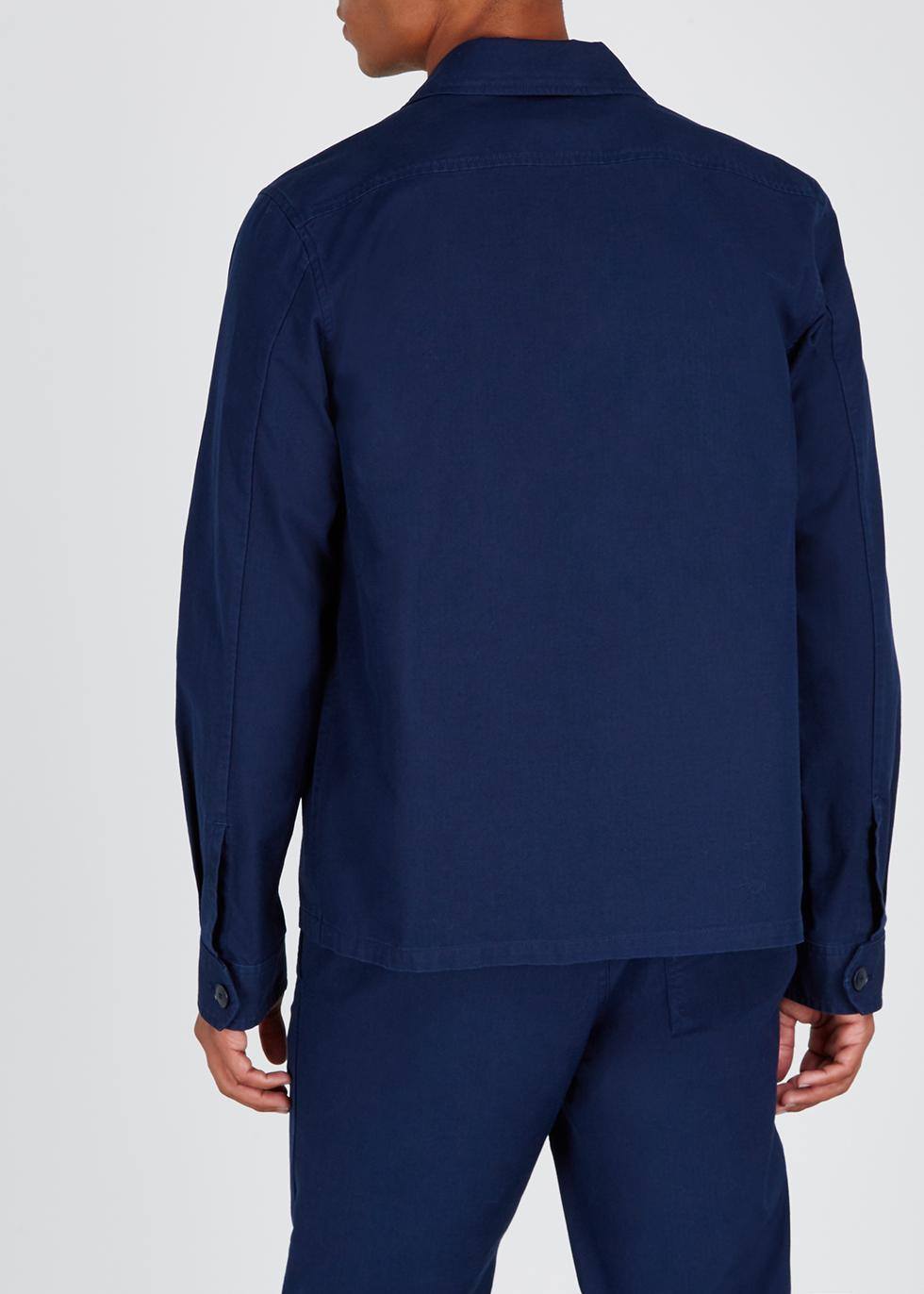 Oahu navy cotton jacket - A.P.C.