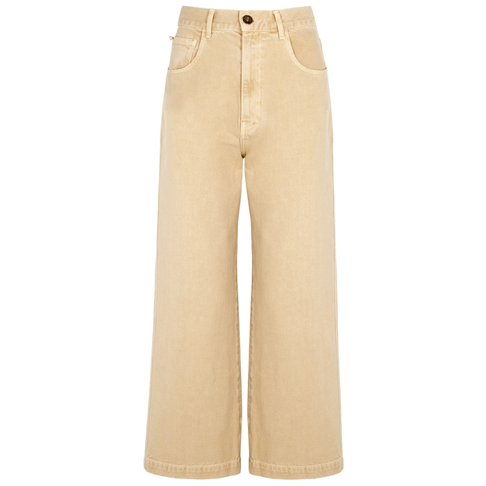 Nanushka Jeans MARFA CREAM WIDE-LEG JEANS