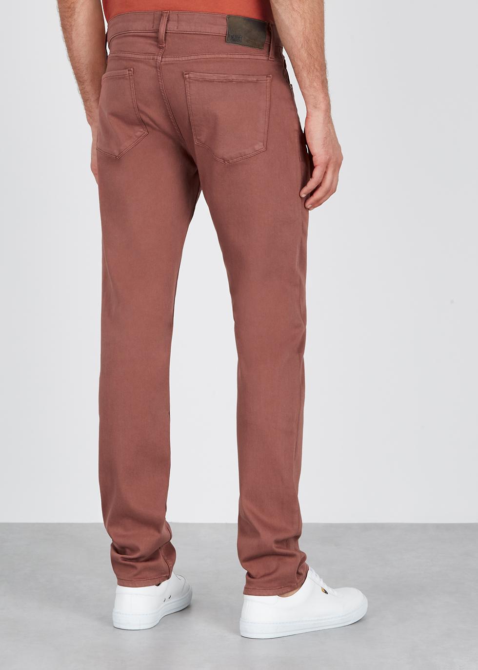 Federal pink slim-leg jeans - Paige