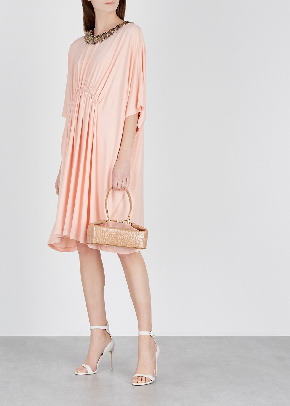 Light pink stretch-jersey dress - M Missoni