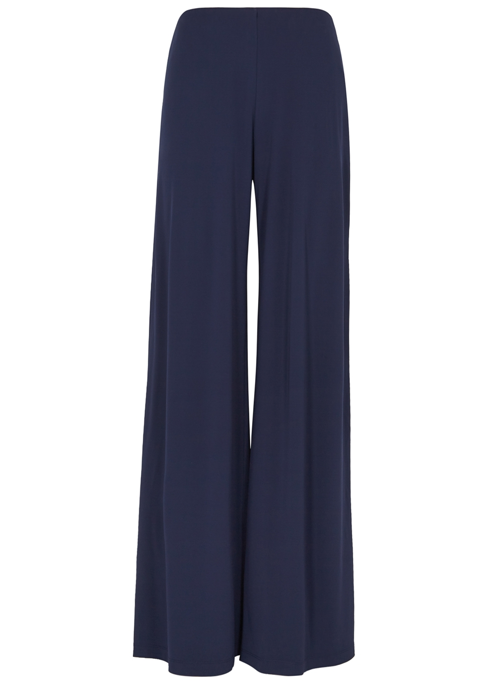 Navy wide-leg jersey trousers - M Missoni