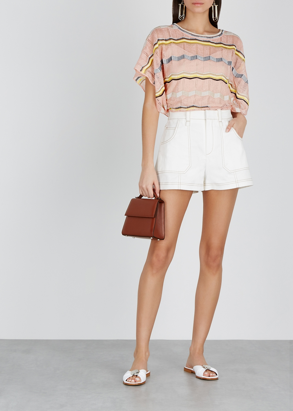 Zigzag fine-knit cotton-blend tunic - M Missoni