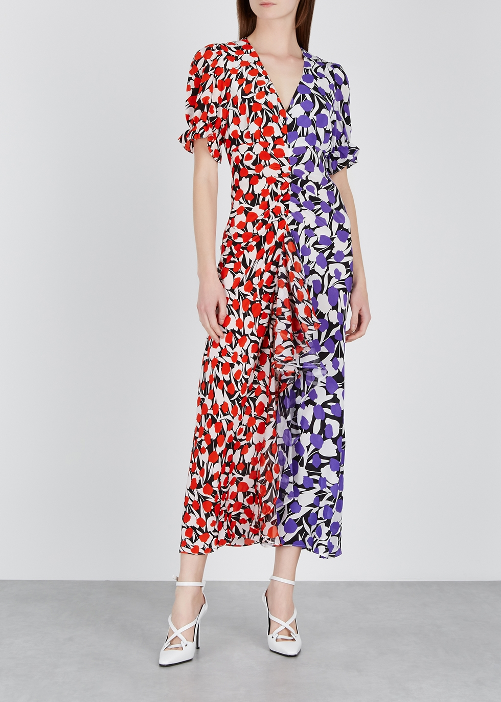Ariel floral-print silk midi dress - RIXO