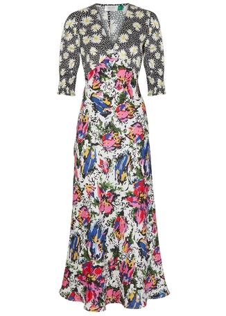 0eaef1428 Zadie printed satin dress ...