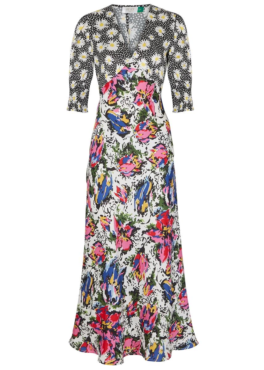 8d09592f81b7 Zadie printed satin dress ...