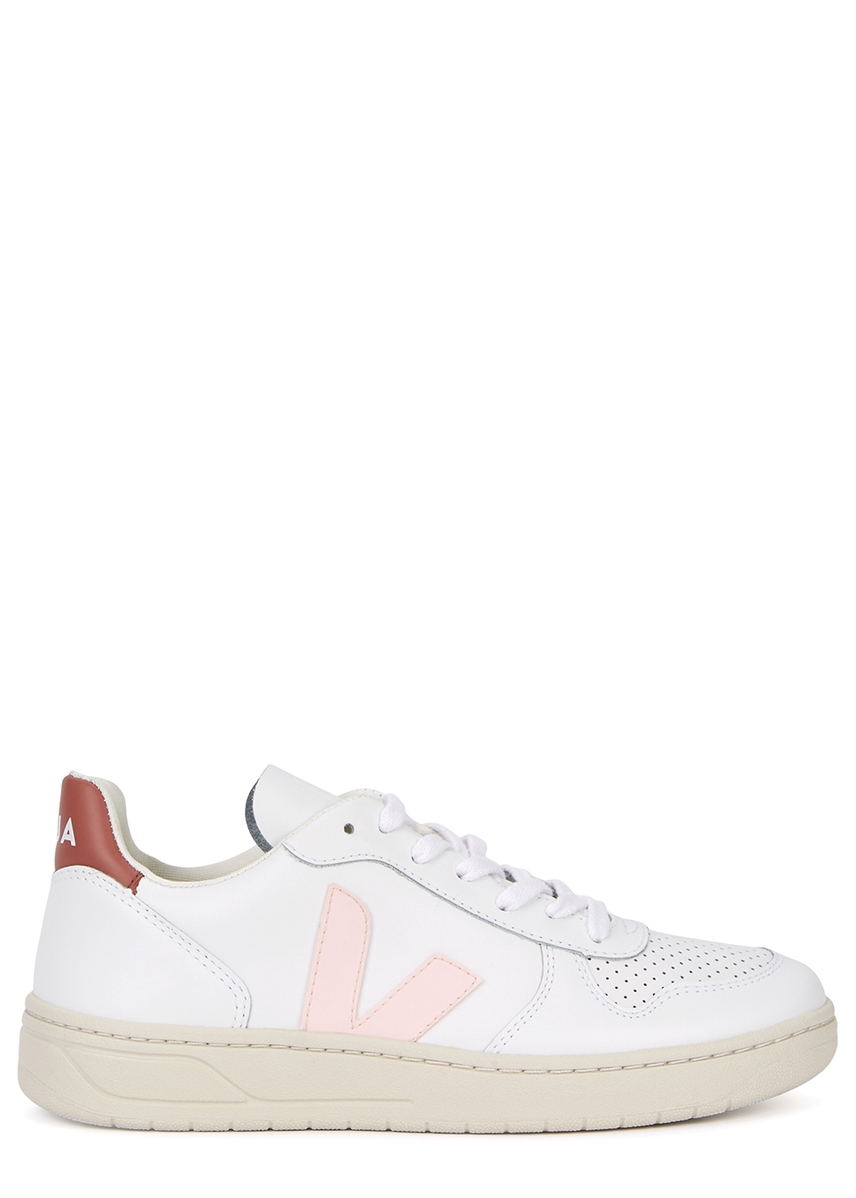 9e23d65776cd1 V-10 white leather trainers ...