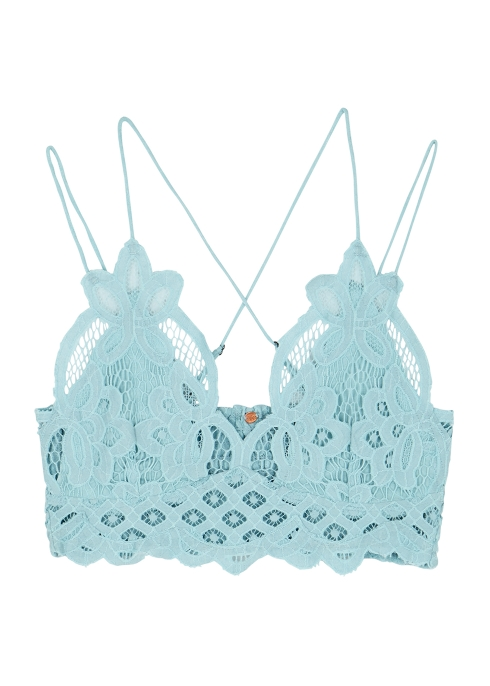 5e77d43ec1 Free People Adella light blue lace bra top - Harvey Nichols