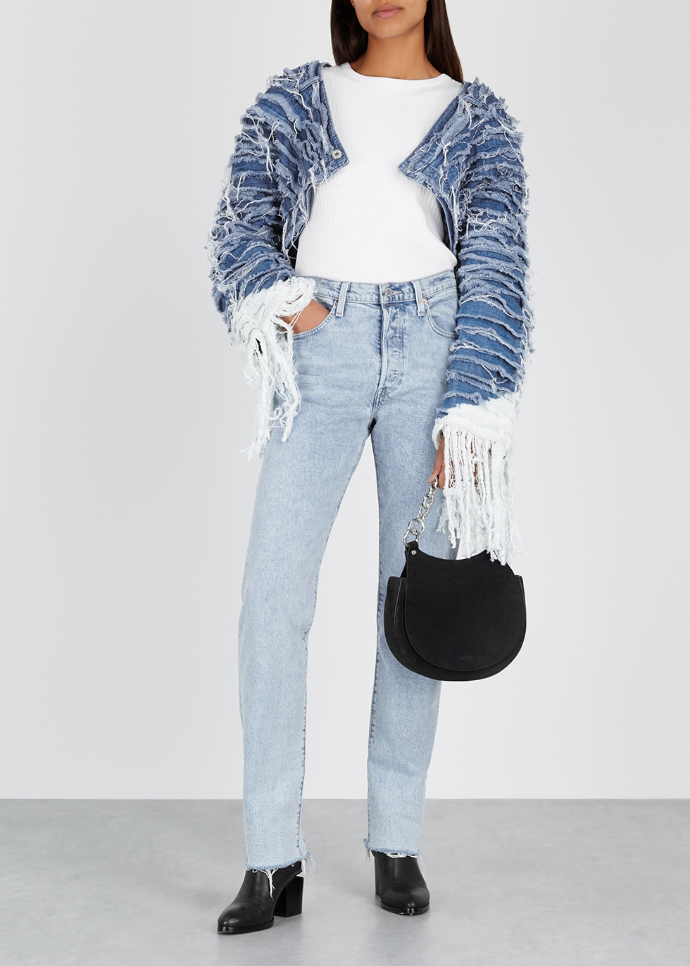 Bolarao light blue distressed denim jacket - Levi's Made & Crafted