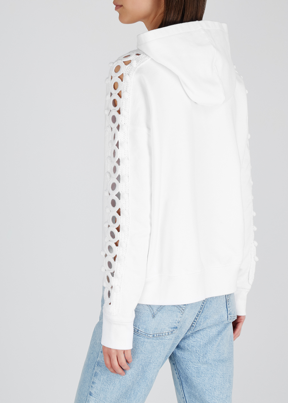 White crochet-trimmed cotton sweatshirt - Levi's Made & Crafted