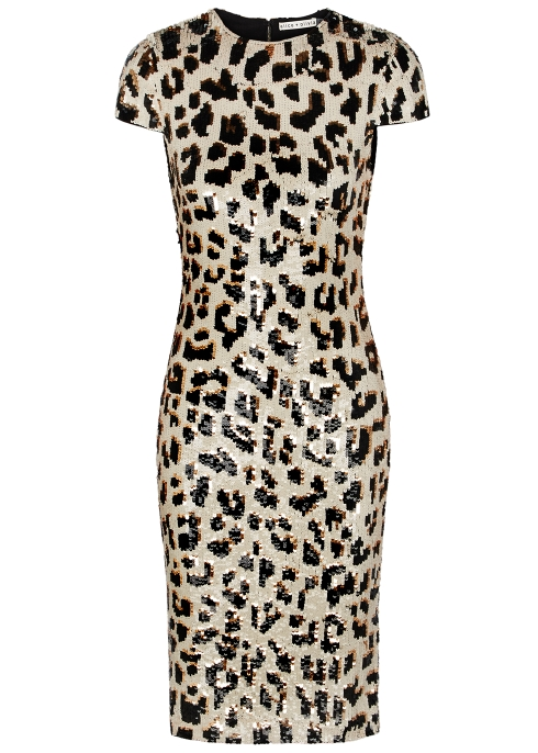 bf6f1ae91a2c Alice + Olivia Nat leopard sequinned midi dress - Harvey Nichols