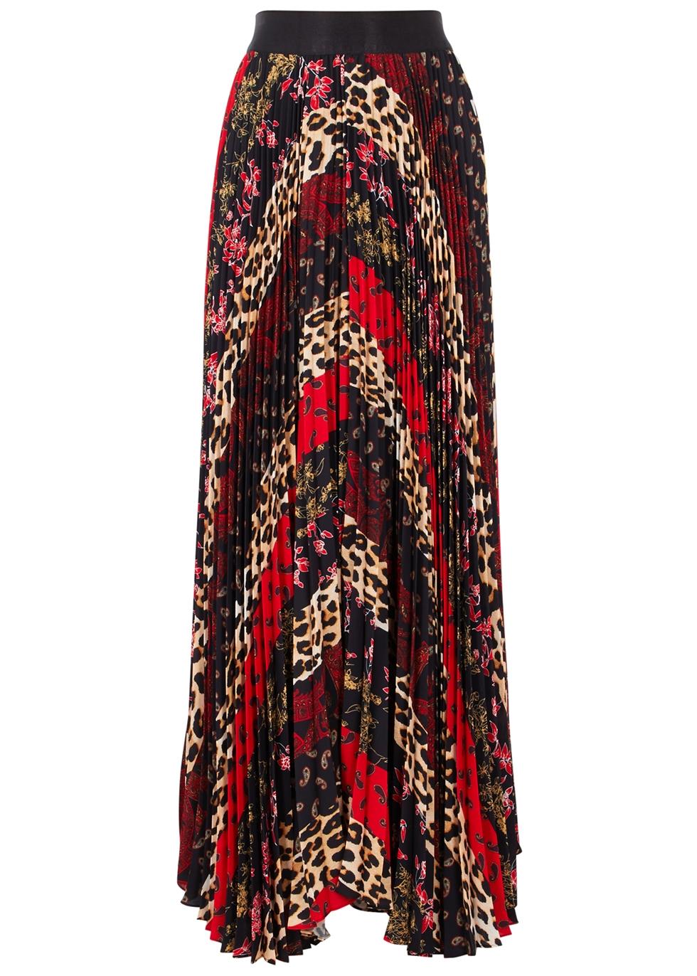 Katz Sunburst Printed Maxi Skirt in Multicoloured