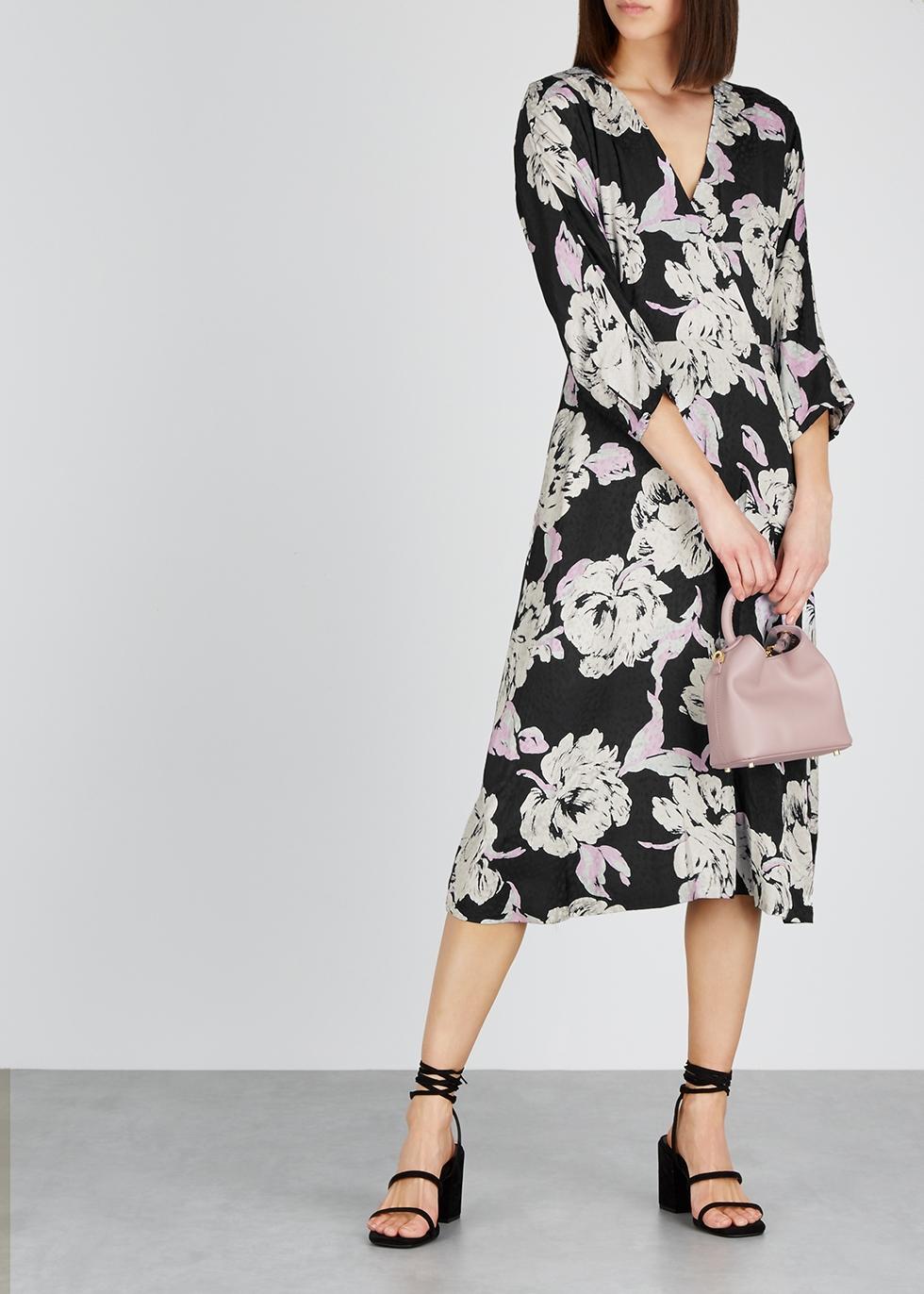 Flica floral-print jacquard midi dress - Gestuz